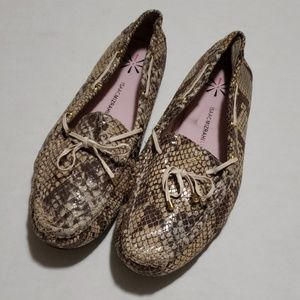 Isaac Mizrahi Live! Leather Snakeskin print Loafer